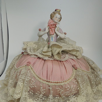 German Half Doll Music Box - Dolls