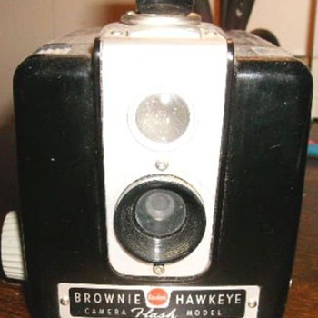 Brownie Hawkeye Camera ( see Old Paper Ad for it )