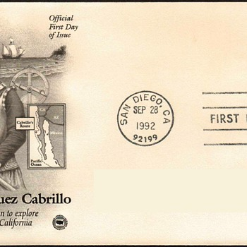 "1992 - ""Juan Cabrillo"" Stamp First Day Cover"