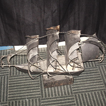 "Folk Art""Welded Boat""1950-60 or before ??"