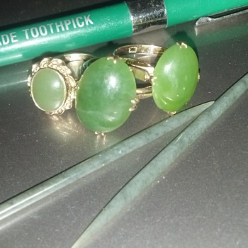Jade Rings & Jade Tooth Picks  - Fine Jewelry