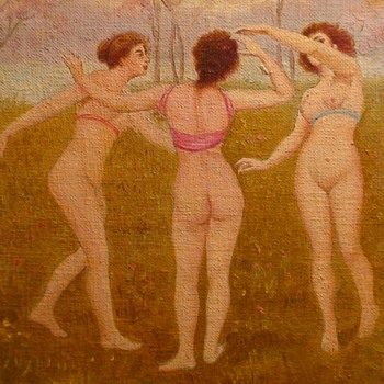 Three Graces Painting By J. Marzo - Visual Art