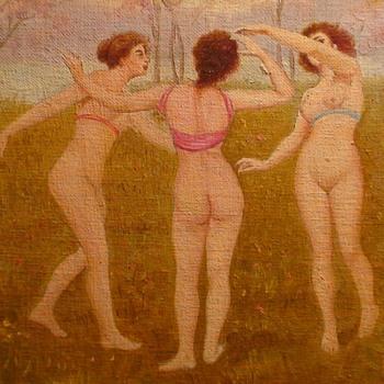 Three Graces Painting By J. Marzo - Visual Art