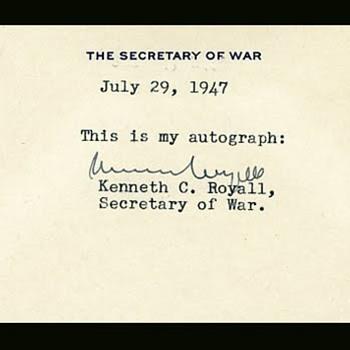 The Last Secretary of War