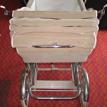 Tan Vintage Pram with Fringe