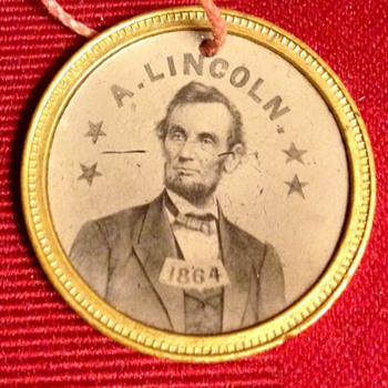 1864 A. Lincoln/A. Johnson Ferrotype 