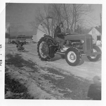 My Dad back in 1964 on a Massey Ferguson Tractor - Hard Work...Fun Times