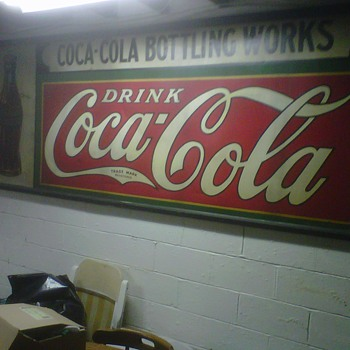 large tin coca-cola sign American Art Works - Advertising