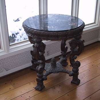 Victorian Marble topped table - Furniture