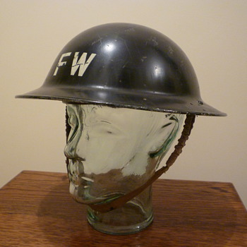 British WWII Fire Watchers steel helmet 1940 - Military and Wartime