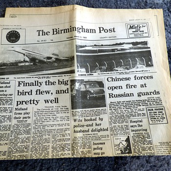 1969-the concorde/the budget-british newspapers-birmingham post. - Paper