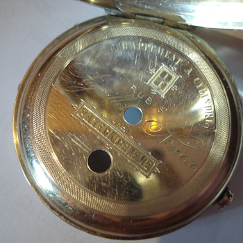 Pocket watch of my great grandmother's grandfather