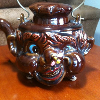 Ugly Head Teapot  - China and Dinnerware