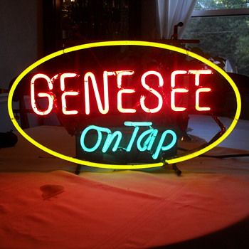 Vintage Genesee Beer Neon Sign - Signs