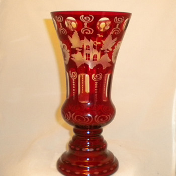 My Red Bohemian Glass - Art Glass