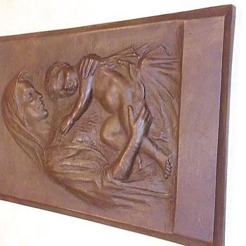 Constanzo Luini Signed Madonna and Child Bronze Plaque - Visual Art