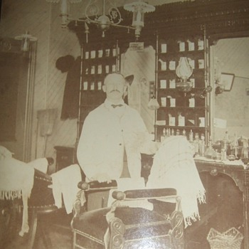 An old time barber shop - Photographs