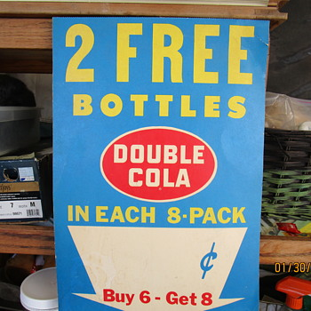 Double Soda Advertiser Sale Sign.