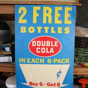 Double Soda Advertiser Sale Sign.