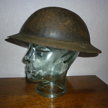 British WWI rimless steel helmet, issued early WWII - Military and Wartime