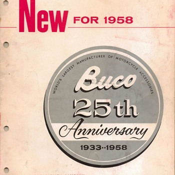 1958 - Buco (Buegeleisen Co.) Motorcycle Accessories Catalog - Paper