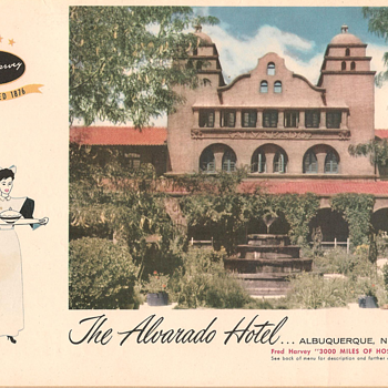 Harvey House Menus 1957 (part #1)
