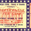 1950 Presidential Cup Bowl ticket UGA vs Texas A&amp;M