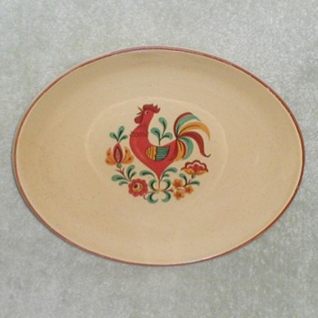 Reveille Rooster Platters - China and Dinnerware