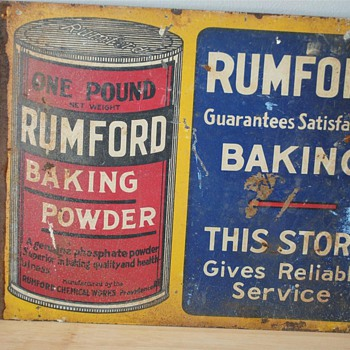Rumford Tin Store Display Sign (1930?) - Signs