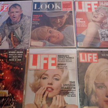 Marilyn Monroe Life Magazines - Paper
