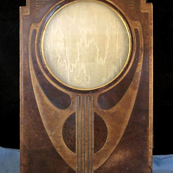 Secessionist Style Tooled Leather Photo Frame