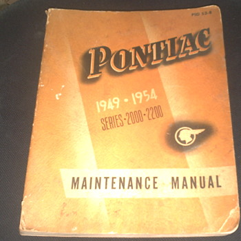 1949-1954 Pontiac Maintenance Manual