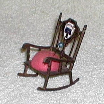 """Pennsylvannia"" Bronze Chair Pin-Cushion"