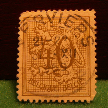 1951 Chiffre sur Lion Heraldique 40 Cents Stamp ~ Used - Stamps