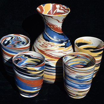 Desert Sands Pottery beverage set