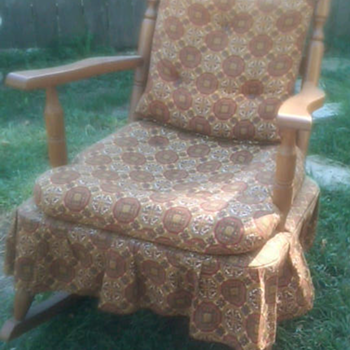 rocking chair from the 60's