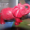 Coral red elephant