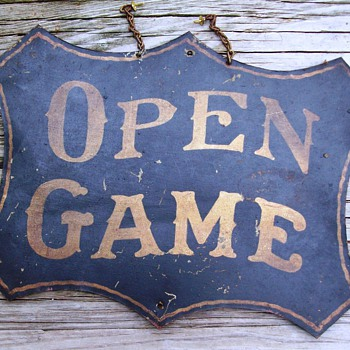 Vintage Billiards Sign - Signs
