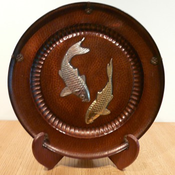 A Japanese Copper Dochu Plate - Asian