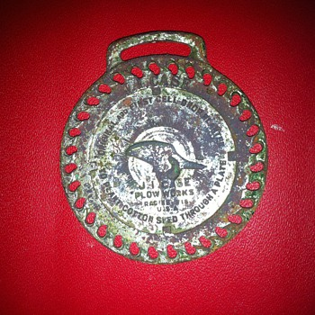 J. I. Case Plow Works watch fob