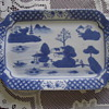 BLUE AND WHITE PORCELAIN SARVING TRAY.