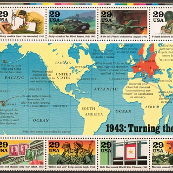 1993 - World War II Souvenir Mint Sheet - Stamps
