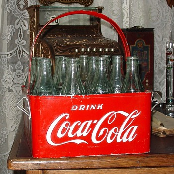 1940's-1950's...Coca-Cola...Metal Carrier...Holds Twenty Bottles - Coca-Cola
