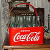 1940&#039;s-1950&#039;s...Coca-Cola...Metal Carrier...Holds Twenty Bottles
