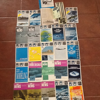 Vintage Historic Aircraft Decals Magazines
