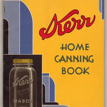 1933-1934  Kerr Home Canning Book - Bottles