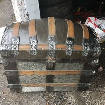 Antique Romadka Brothers Trunk - Furniture
