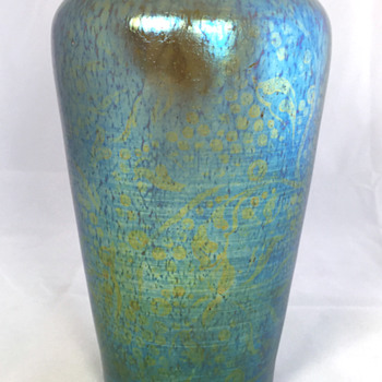 "Loetz ""Delphi"" Vase with unusual DEK pattern. PN II-878. 7"" Tall. Circa 1900"
