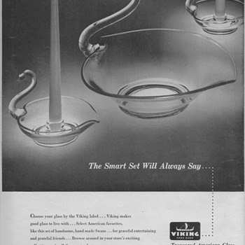 1950 Viking Glass Advertisement - Advertising