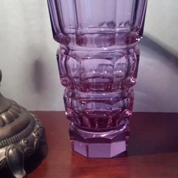 Josef Hoffmann (Moser) Prism Cut Vase
